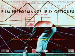 Haxton, Jeux optiques @ Salle de projection - A1 181 | Saint-Denis | Île-de-France | France