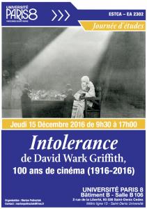 Intolerance de David Wark Griffith, 100 ans de cinéma (1916-2016) @ Université Paris 8   Saint-Denis   Île-de-France   France