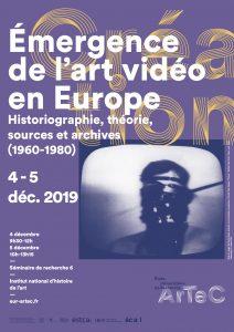 Émergence de l'art vidéo en Europe - Séminaire de recherche 6 @ INHA, salle Walter Benjamin
