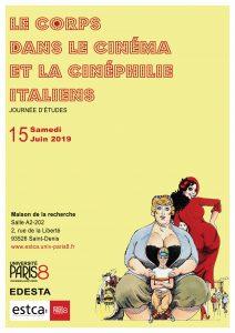 Le corps dans le cinéma et la cinéphilie italiens @ Maison de la Recherche, salle A2-202 Université Paris 8