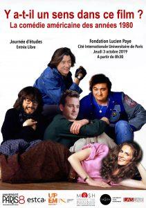 La comédie américaine des années 1980 - Journée d'études @ Fondation Lucien Paye, Cité Internationale Universitaire de Paris