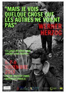 Colloque consacré à Werner Herzog @ Goethe-Institut Paris
