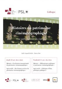Histoires du patrimoine cinématographique : une autre histoire du cinéma @ École nationale des chartes, salle Delisle