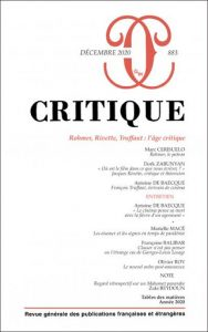 Rohmer, Rivette, Truffaut : l'âge critique - Séminaire sur la critique (visioconférence)