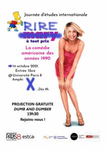 """Journée d'études """"Rire à tout prix : La comédie américaine des années 1990"""" @ Université Paris 8, Amphi X"""